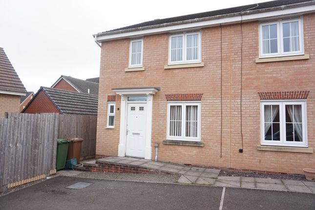 Thumbnail End terrace house for sale in Woodside Drive, Newbridge, Newport