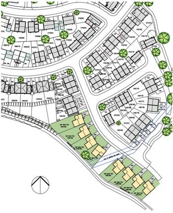 Site Plan of Kings Gate, Vicarage Hill, Kingsteignton, Newton Abbot TQ12