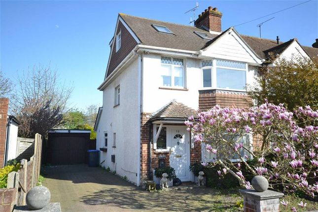 Thumbnail End terrace house for sale in Turner Road, Broadwater, Worthing, West Sussex
