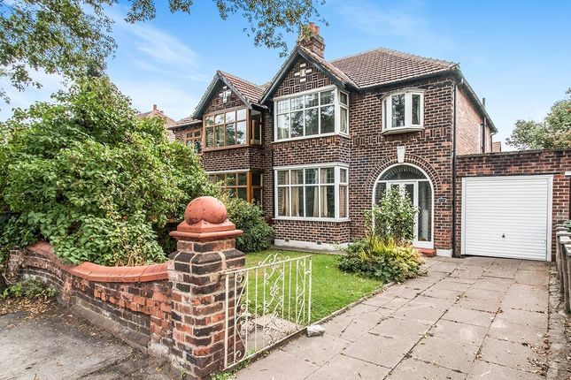 Thumbnail Semi-detached house for sale in Kingsway, Burnage, Manchester