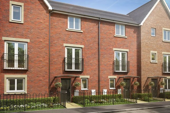 "Thumbnail Town house for sale in ""The Cedar "" at Brickburn Close, Hampton Centre, Peterborough"