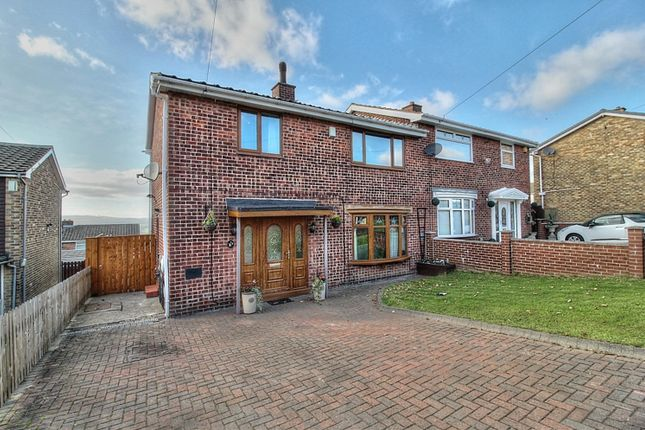 Thumbnail Semi-detached house for sale in Borrowdale Gardens, Low Fell, Gateshead