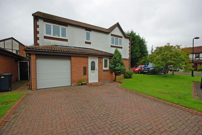 Thumbnail Detached house for sale in Garleigh Close, Killingworth, Newcastle Upon Tyne