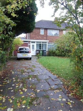 Thumbnail Semi-detached house to rent in Longdon Avenue, Wolverhampton
