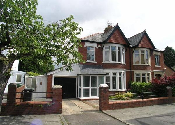 Thumbnail Semi-detached house to rent in Whitehall Road, Llandaff, Cardiff