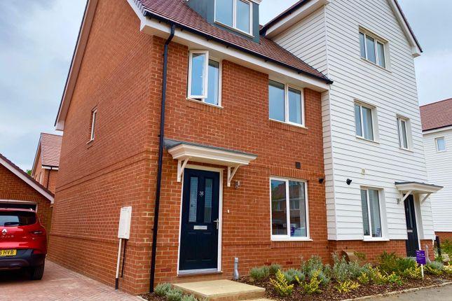 Thumbnail Semi-detached house to rent in Baldock Road, Canterbury