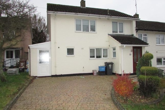 Thumbnail End terrace house to rent in Stony Croft, Stevenage