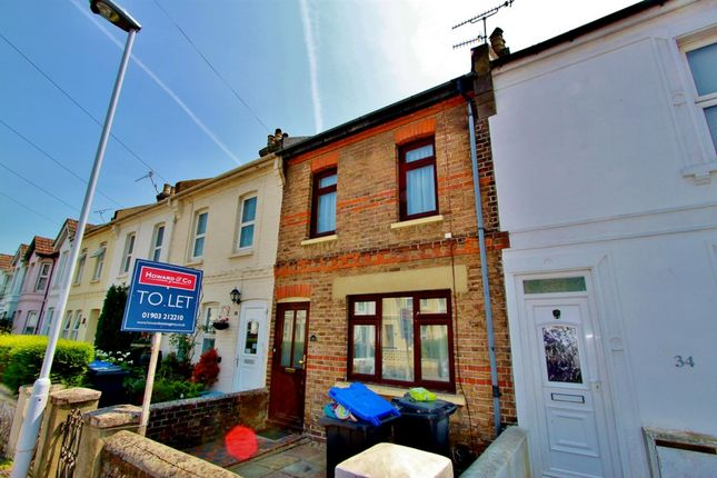 Thumbnail Terraced house to rent in Becket Road, Worthing