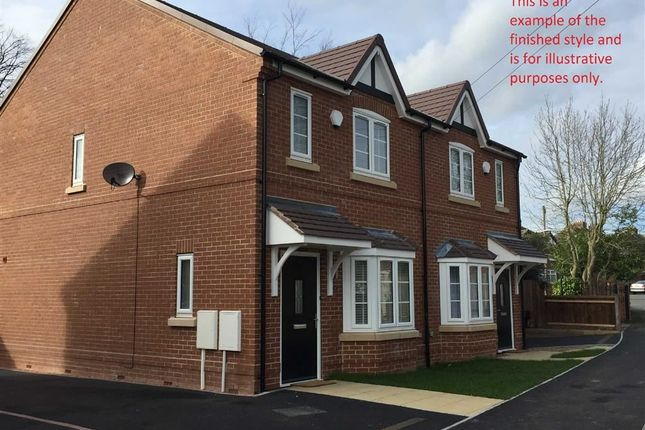 Thumbnail Town house for sale in Goodsmoor Road, Sinfin, Derby