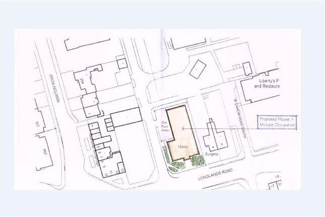 Site Plan of Longlands Road, Longlands, Middlesbrough TS4