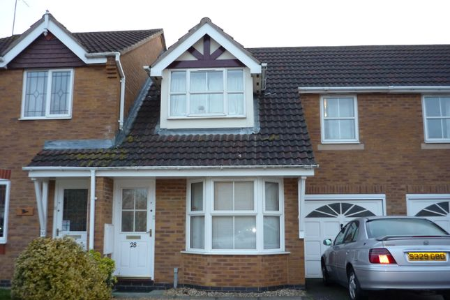 Thumbnail 3 bed terraced house to rent in Lordswood Close, Wootton, Northampton