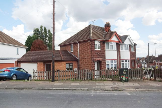 Thumbnail Semi-detached house for sale in Burnham Drive, Leicester