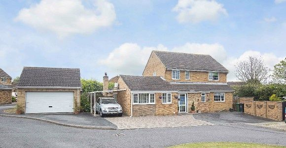 Thumbnail Detached house for sale in Home Close, Great Oakley, Corby