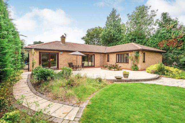 Thumbnail Detached bungalow for sale in The Yews, Oadby, Leicester
