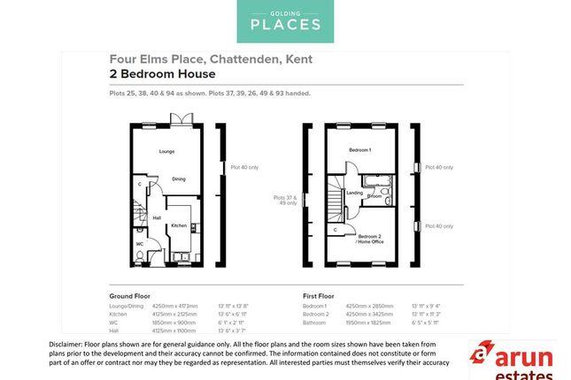 Floor Plans of Four Elms Place, Chattenden, Rochester, Kent ME3