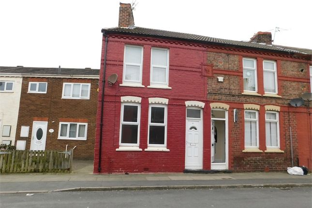 Thumbnail End terrace house to rent in Moore Street, Bootle, Merseyside