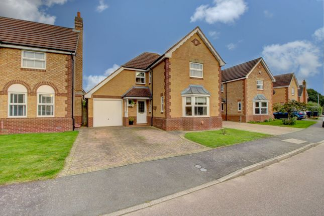 Thumbnail 4 bed detached house for sale in The Ridings, Brixworth, Northampton