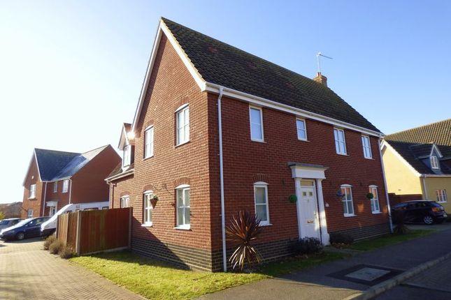 Thumbnail Detached house for sale in Rushton Drive, Carlton Colville, Lowestoft