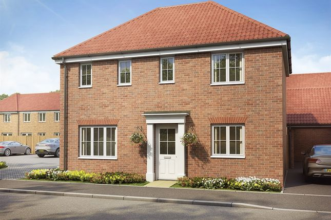 "Thumbnail Detached house for sale in ""The Clayton Corner "" at Badger Close, Fleckney, Leicester"