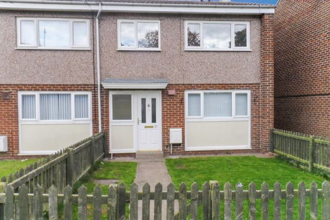 Thumbnail Terraced house to rent in St. Christophers Close, Ashington