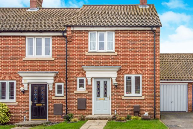 Thumbnail End terrace house for sale in Lord Nelson Drive, New Costessey, Norwich
