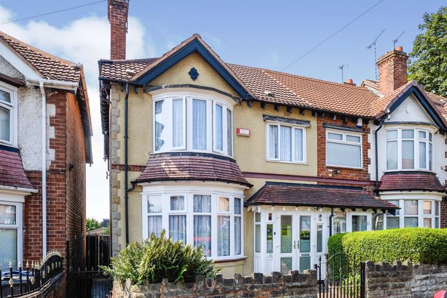 Thumbnail End terrace house for sale in Upper Grosvenor Road, Handsworth, Birmingham
