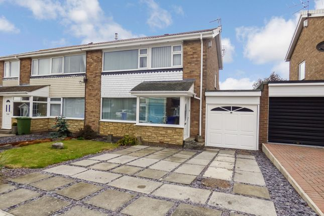 Thumbnail Semi-detached house for sale in Megstone Avenue, Cramlington