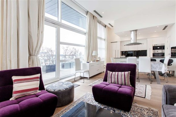 Thumbnail Flat for sale in Penthouse. Chelsea Bridge Wharf