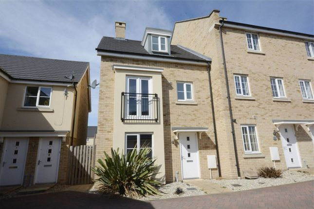 Thumbnail End terrace house for sale in Eynesbury, St Neots, Cambridgeshire