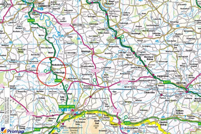 Location Plan of Passaford Lane, Hatherleigh EX20