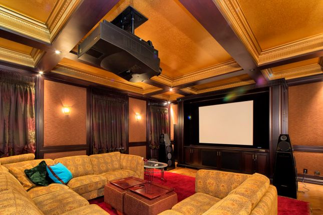 Home Cinema Room With Projector And Comfy Sofas