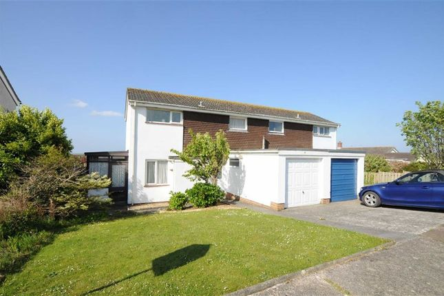 Thumbnail Semi-detached house for sale in Trelawney Avenue, Poughill, Bude, Cornwall