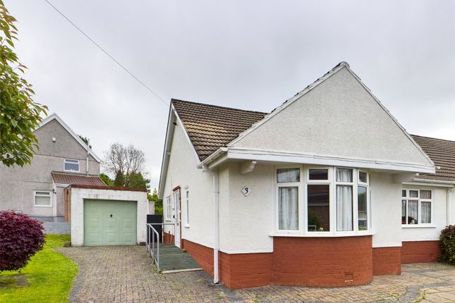 Thumbnail Bungalow for sale in Meadow Crescent, Scwrfa, Tredegar, Gwent