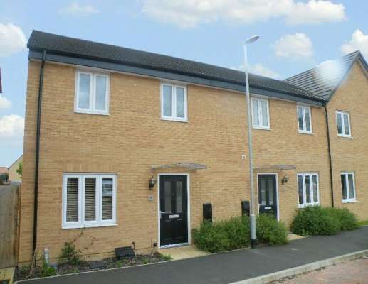 Thumbnail End terrace house to rent in Herald Way, Gunthorpe, Peterborough
