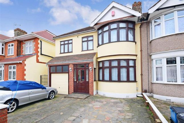 Thumbnail End terrace house for sale in Norbury Gardens, Romford, Essex