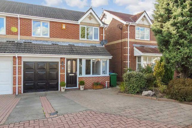 Thumbnail Semi-detached house for sale in Delamere Crescent, Cramlington
