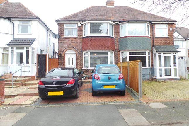 Thumbnail Semi-detached house for sale in Edgemond Avenue, Birmingham