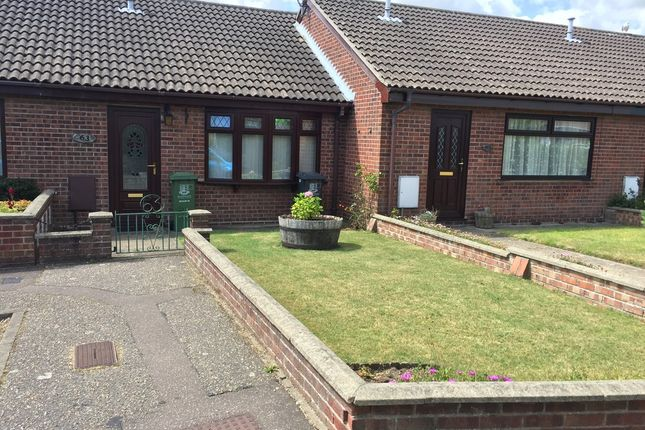 Thumbnail Terraced bungalow for sale in Blackbird Close, Bradwell, Great Yarmouth