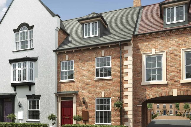 """Thumbnail Terraced house for sale in """"The Thornton M"""" at Davidsons At Wellington Place, Leicester Road, Market Harborough"""