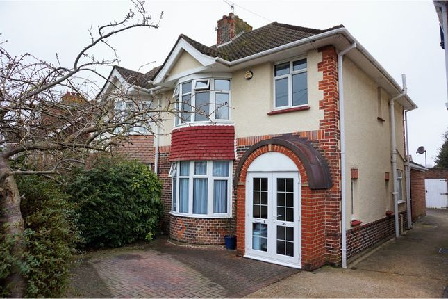 Thumbnail Semi-detached house for sale in Foredown Drive, Brighton