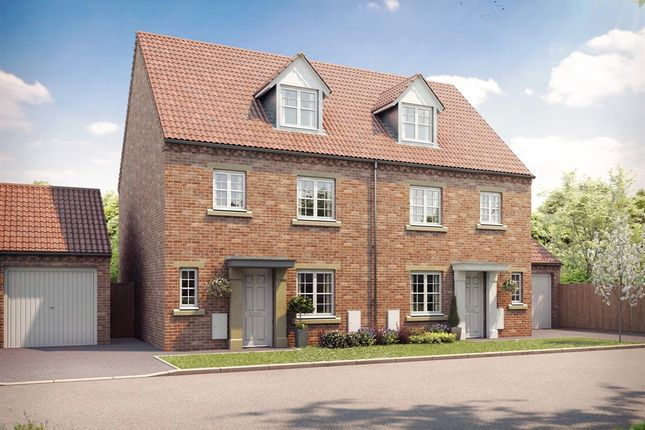 """Thumbnail Semi-detached house for sale in """"The Welburn"""" at Bishopdale Way, Fulford, York"""