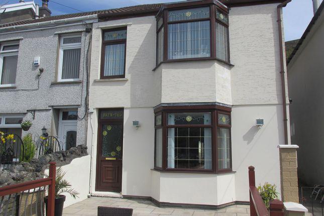 Thumbnail Semi-detached house for sale in Mount Pleasant, Troedyrhiw, Merthyr Tydfil