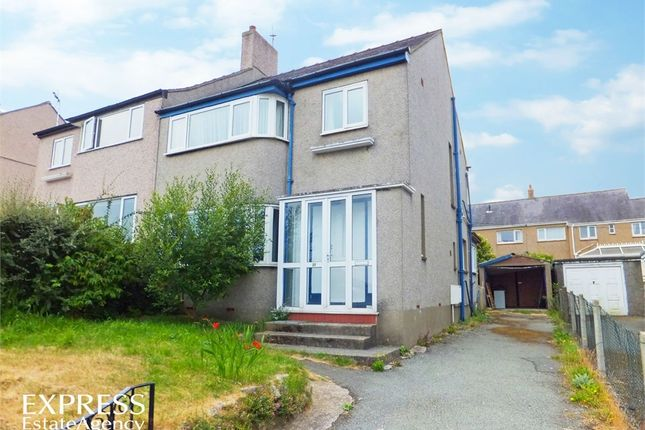 Thumbnail Semi-detached house for sale in Belmont Road, Bangor, Gwynedd