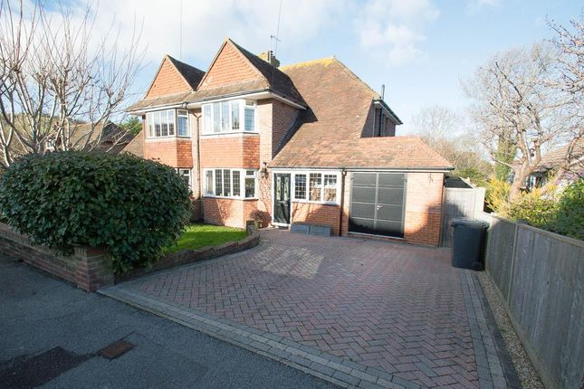 Thumbnail Semi-detached house for sale in Tas Combe Way, Willingdon, Eastbourne