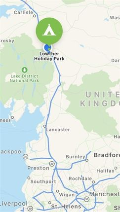 Location of Lowther Holiday Park Ltd, Eamont Bridge, Penrith CA10