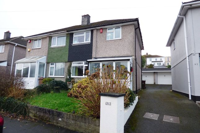 Thumbnail Semi-detached house for sale in Dudley Road, Plympton, Plymouth