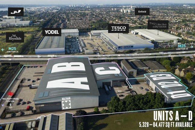 Thumbnail Industrial to let in Units A & B, Walthamx, Station Approach, Waltham Cross