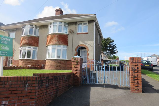 Thumbnail Semi-detached house for sale in Llanllienwen Road, Cwmrhydyceirw, Swansea