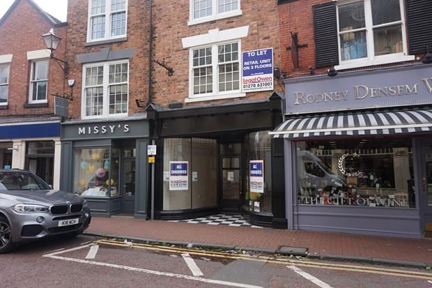 Thumbnail Retail premises to let in 6 Pillory Street, Nantwich, Cheshire