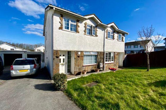 Thumbnail Semi-detached house for sale in Fox Hollows, Brackla, Bridgend